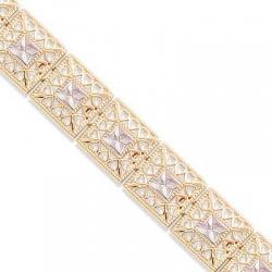 Золотой браслет Ажур без камней