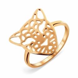 Золотое кольцо Гепард без камней