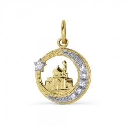Мусульманская подвеска из желтого золота с бриллиантами