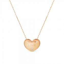 Золотое колье с Swarovski Zirconia Сердце