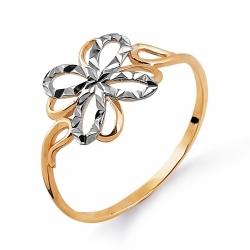 Золотое кольцо Цветок без камней