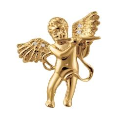 Брошь-подвеска Ангел из золота с бриллиантами