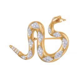 Брошь-подвеска Змея из золота с бриллиантами