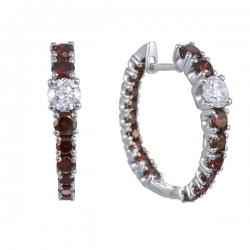 Серьги из белого золота 585 пробы с бриллиантами