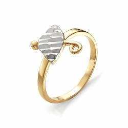 Детское золотое кольцо Зонтик без камней