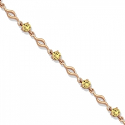 Золотой браслет с цитрином