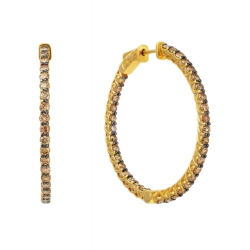Серьги из золота 585 пробы с бриллиантами