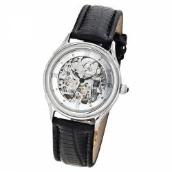 Мужские серебряные часы «Скелетон»