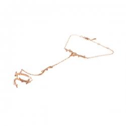 Кольцо-браслет из розового золота 585 пробы с бриллиантами