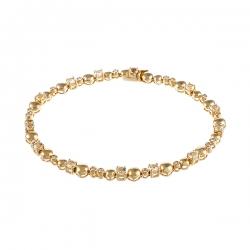 Браслет из розового золота 585 пробы с аметистами и бриллиантами