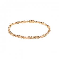 Браслет из золота 585 пробы с аметистами и бриллиантами