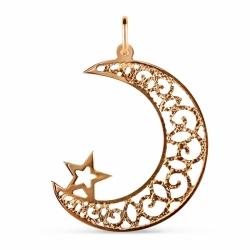 Мусульманская золотая подвеска
