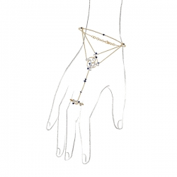 Золотой браслет c бриллиантами и сапфирами