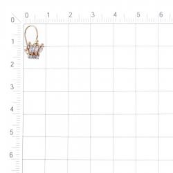 Т142028338 детские золотые серьги с фианитами