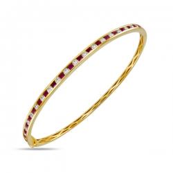 Золотой браслет c бриллиантами и рубинами