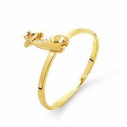 Детское кольцо Жирафик из желтого золота