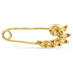 Булавка из желтого золота с цитрином