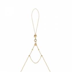 Кольцо-браслет из золота с кварцем, бриллиантами и сапфирами (цветы)