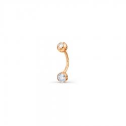 Пирсинг в пупок с бриллиантами