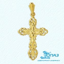Мужской крестик из желтого золота