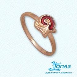 Детское золотое кольцо Улитка с эмалью