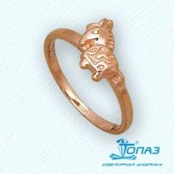 Детское золотое кольцо Конек без камней