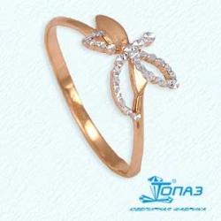 Золотое кольцо Стрекоза без камней
