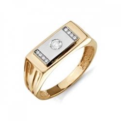 Золотая печатка с бриллиантами
