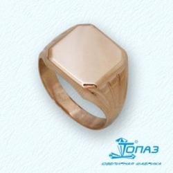 Золотое мужское кольцо без камней
