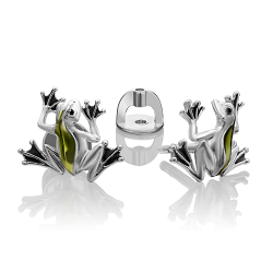 Серьги из серебра без камней