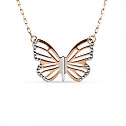 Золотое колье Бабочка