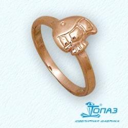 Детское золотое кольцо Рыбка без камней