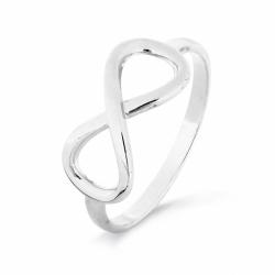 Кольцо Бесконечность из белого золота