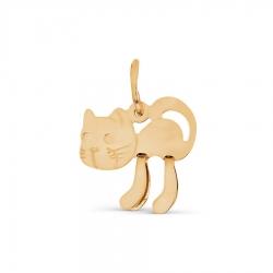 Детская золотая подвеска Кот