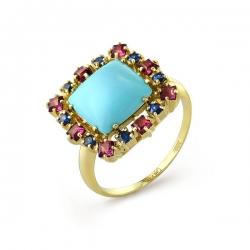 Эксклюзивное кольцо из жёлтого золота