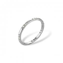 Кольцо из белого золота 585 пробы с бриллиантами