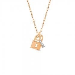 Золотое колье Замок и ключ с бриллиантами