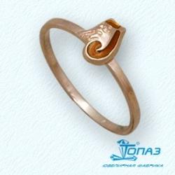 Детское золотое кольцо Кот с эмалью