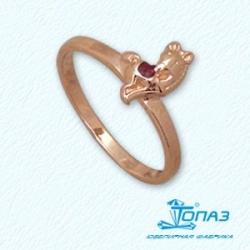 Детское золотое кольцо Конь с эмалью