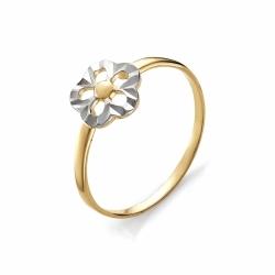 Детское золотое кольцо Цветок без камней