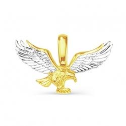 Подвеска Птица из желтого золота