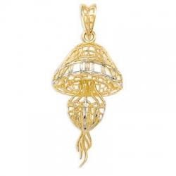Подвеска Медуза из желтого золота