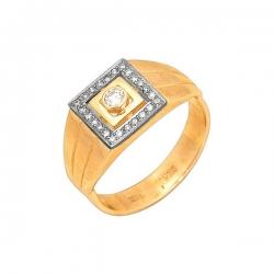 Кольцо-печатка из золота с бриллиантами