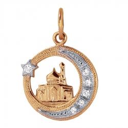 Мусульманская золотая подвеска с бриллиантами