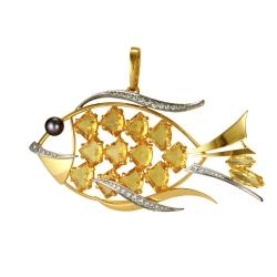 Эксклюзивная подвеска Золотая рыбка