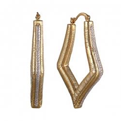 Серьги из серебра 925 пробы с бриллиантами