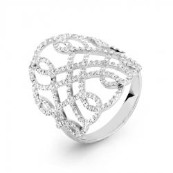 Кольцо Ажур из белого золота с бриллиантами