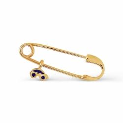 Булавка из желтого золота с эмалью