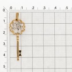 Т141034556 золотая подвеска с бриллиантами ключик