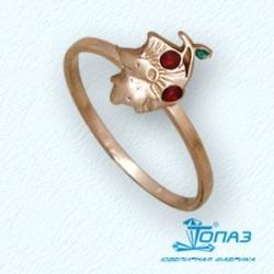 Детское золотое кольцо Ежик с эмалью